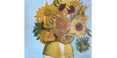 Sunflowers by Van Gogh - Paint & Sip Pint Night - Snacks Included