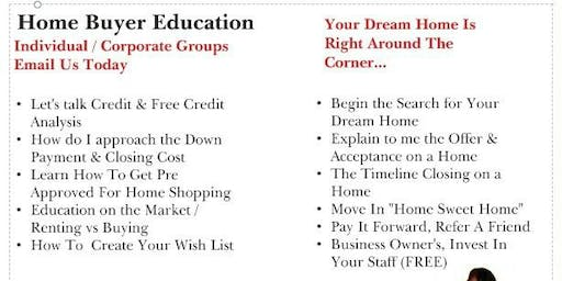 Home Buyer Education One on One    APPOINTMENT ONLY