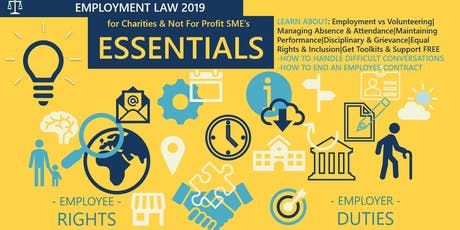 Employment Law: Essentials for Charity & Not for Profit SME's tickets