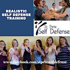 St Pete Self Defense w/former world champion Kathy Marlor Kozlowski logo