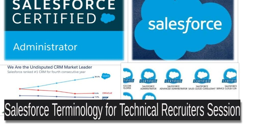 Salesforce Terminology For Technology Recruiters Tickets Thu 7 Mar