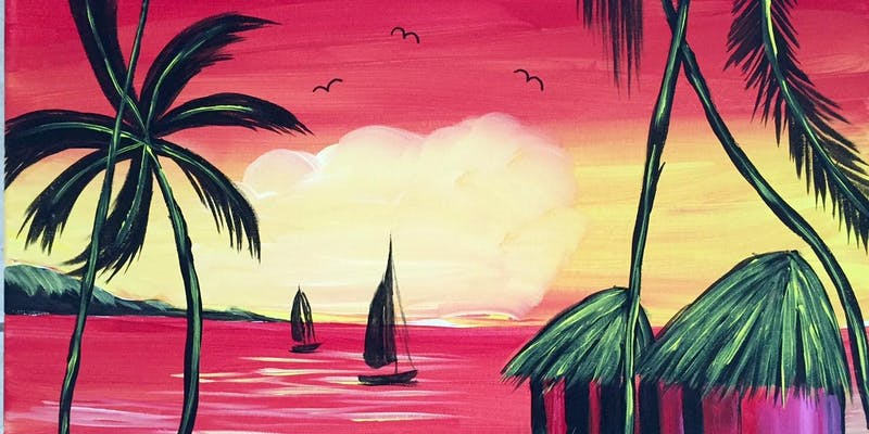 Sip and Paint California Vibes