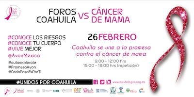 7MO FORO COAHUILA CONTRA EL CÁNCER DE MAMA