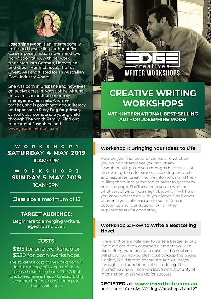 Creative Writing Workshops 1 and 2 image