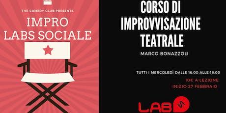 Corso di Improvvisazione Teatrale biglietti