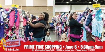 JBF Waxahachie/Mansfield: PRIME TIME SHOPPING! ($5 admission)