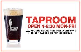 December 6th! Taproom OPEN for BONUS Hours! Private Rental in Ballroom.