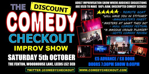 Discount Comedy Checkout - Improv Comedy Show - Leeds - Sat 5th October