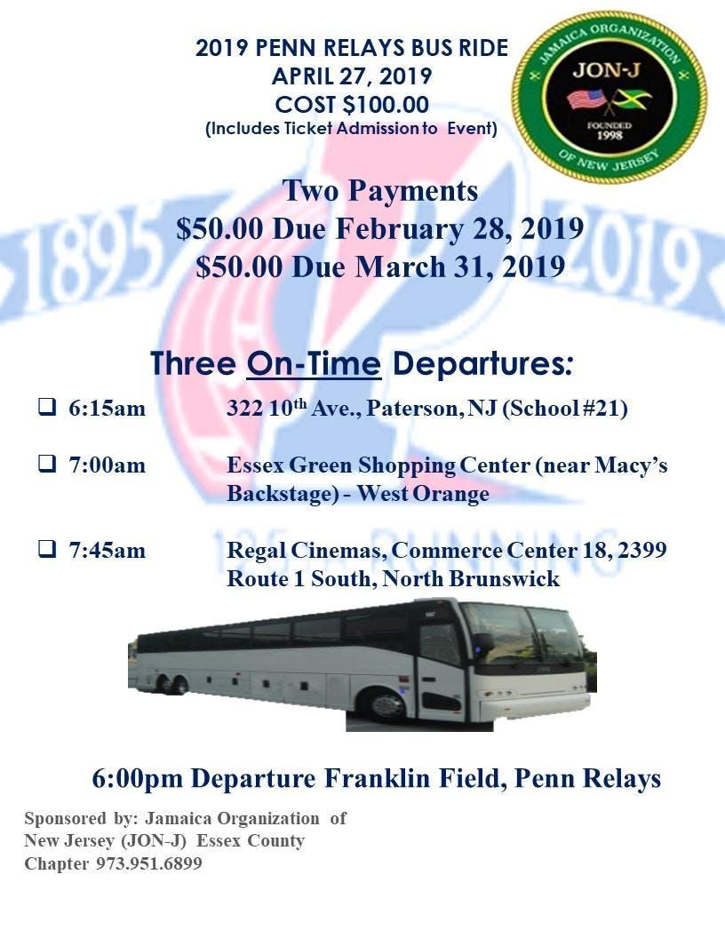 2019 Penn Relays Annual Bus Ride - a Jamaica