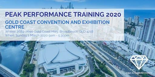 Peak Performance Training 2020 Sunday 1 March