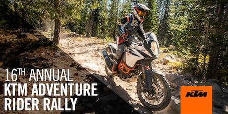 16th Annual KTM ADVENTURE Rider Rally - Breckenridge, CO tickets