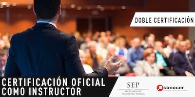 Certificación Oficial como Instructor. Registro para Informes