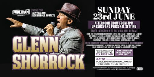 Glenn Shorrock LIVE at Publican, Mornington!