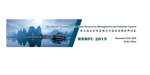 The 2nd Int'l Symposium on Water Resources Management and Pollution Control