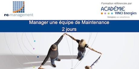 "Formation ""Manager mon équipe Maintenance"" - Dijon billets"