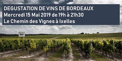 Le Chemin des Vignes Ixelles | Dégustation de Vins de Bordeaux