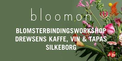 bloomon blomsterbindings-workshop 10. april | Silkeborg, DREWSENS kaffe vin & tapas