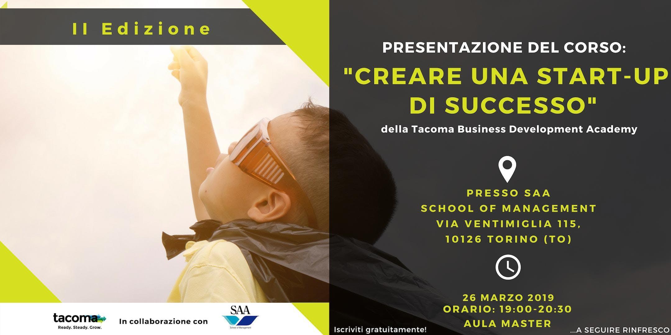 """Presentazione del Corso: """"Creare una Start-up"""