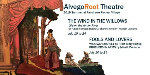 Fools and Lovers: Widows' Scarlet and Brothers in Arms, July 16, 24, 25 at 7:30 p.m.