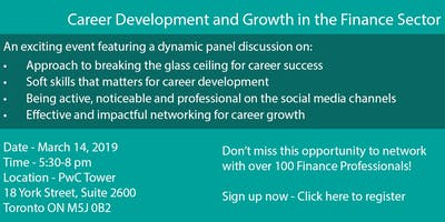 CAREER DEVELOPMENT AND GROWTH IN THE FINANCE SECTOR
