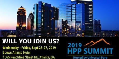 2019 HPP Summit tickets