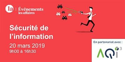 Conférence  Sécurité de l'information - Les Affaires