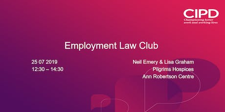 Employment Law Club July 2019 tickets