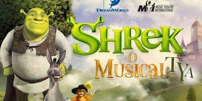 Shrek Musical TYA, no Teatro West Plaza