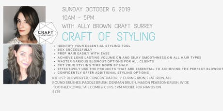CRAFT WORKSHOP - CRAFT of Styling with Ally Brown tickets