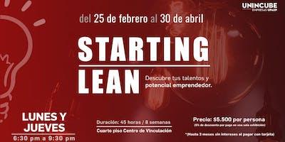 STARTING LEAN. De idea de emprendimiento a proyecto viable