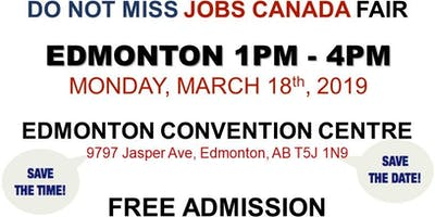 Edmonton Job Fair - March 18th, 2019