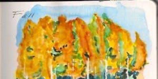 用水彩画写旅行日记