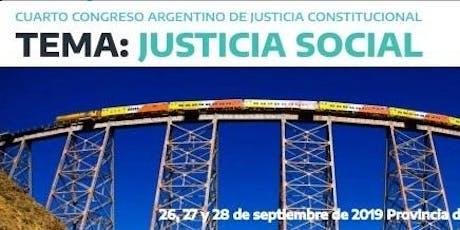 4to Congreso Argentino de Justicia Constitucional entradas