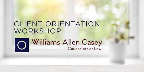 Client Orientation Workshop tickets
