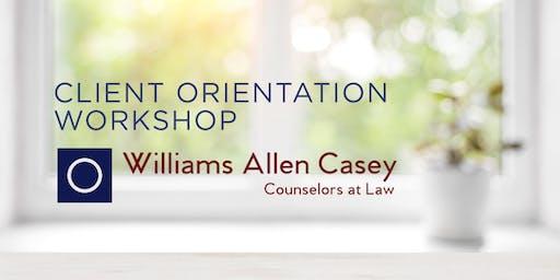 Client Orientation Workshop