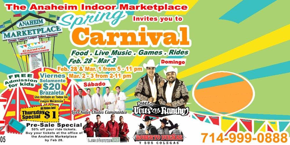 Spring Carnival Tickets, Multiple Dates | Eventbrite