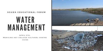 SEAWA Spring Community Forum  - Water Management