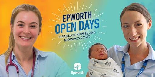 Epworth Freemasons Maternity Midwifery Graduate Open Days