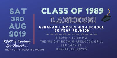 Lincoln High School Class of 1989 - 30 Year Reunion