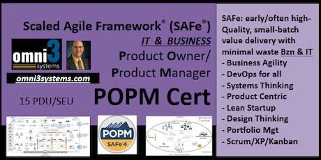 >POPM_SAFe-Product Owner/Prod Mgr [POPM-v4.6Cert],Metro-Detroit-15PDUs tickets