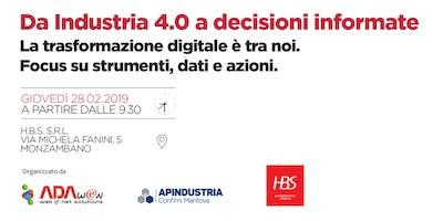 Da Industria 4.0 a decisioni informate.