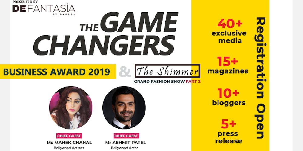 9d4335c3e2d7 The Game Changers - Business Awards Fashion Show - The Shimmer Part 2 Delhi  Tickets