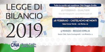 Roadshow Legge di Bilancio 2019 - Castelnovo Ne' Monti
