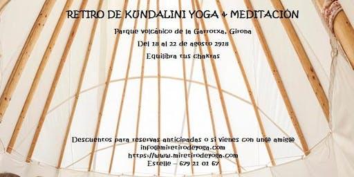 Retiro de Kundalini yoga & meditación en agosto - Equilibra tus chakras