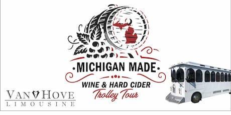Michigan Made Wine & Hard Cider Trolley / Bus Tour from Hamlin Pub 22 Mile billets