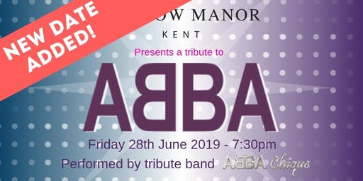 Hadlow Manor presents ABBA Chique