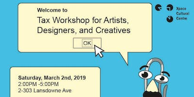 Tax Workshop for Artists, Designers, and Creatives