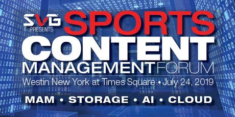 2019 Sports Content Management Forum entradas