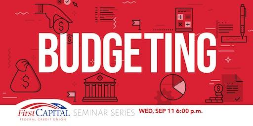 2019 Seminar Series - Budgeting
