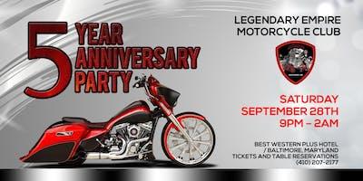 Legendary Empire MC - 5th Anniversary Party